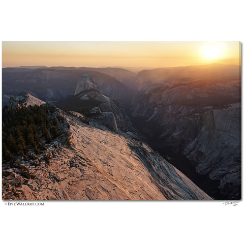 """Clouds Rest Sunset"" Yosemite Fine Art Gallery Wrapped Canvas Print"