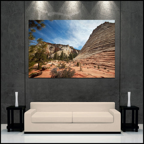 """Colors of Zion"" Fine Art Gallery Wrapped Canvas Print"
