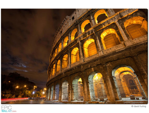 """The Colosseum"" Rome Fine Art Gallery Wrapped Canvas Print"