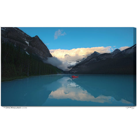 """Early Morning Blues"" Lake Louise Fine Art Gallery Wrapped Canvas Print"