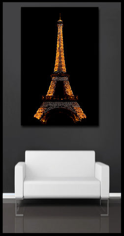 """Eiffel Gold"" Iconic Paris Fine Art Gallery Wrapped Canvas Print"