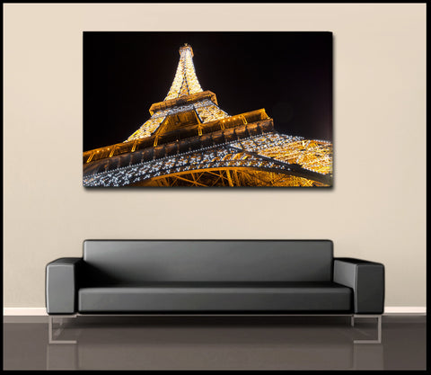 """Eifel Lights"" Paris Fine Art Gallery Wrapped Canvas Print"