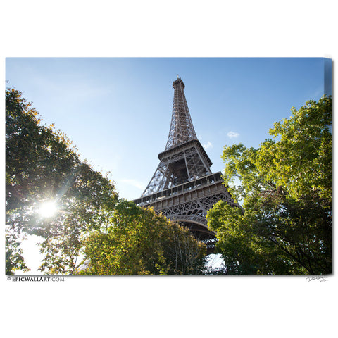 """Eiffel Tower Sunlight"" Paris Fine Art Gallery Wrapped Canvas Print"