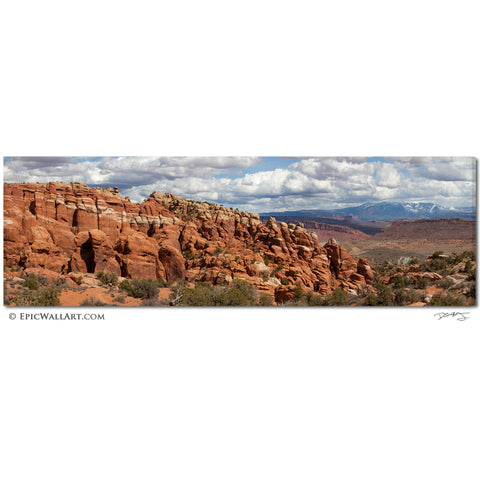 """The Fiery Furnace"" Arches Panoramic Fine Art Gallery Wrapped Canvas Print"