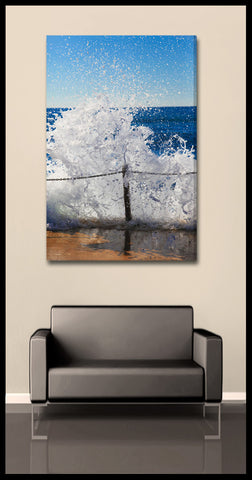 """Frozen Wave"" Australia Fine Art Gallery Wrapped Canvas Print"