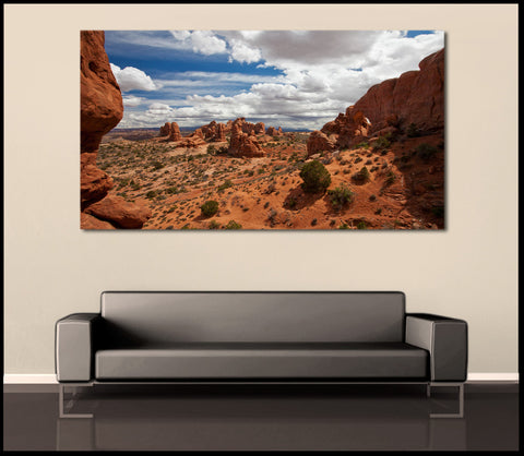 """The Garden of Eden"" Arches Fine Art Gallery Wrapped Canvas Print"