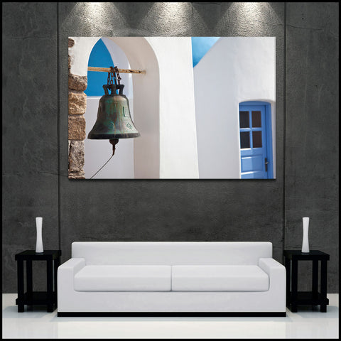 """Greek Style"" Mykonos Fine Art Gallery Wrapped Canvas Print"