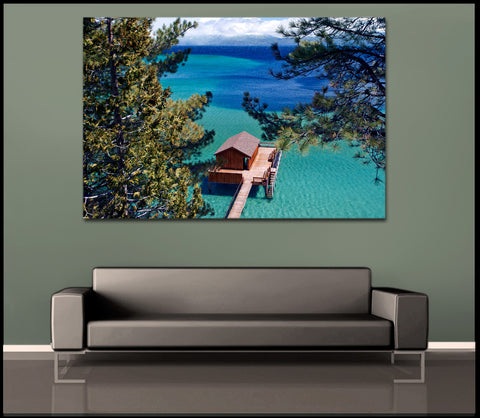 """Paradise Cabin"" Lake Tahoe Fine Art Gallery Wrapped Canvas Print"