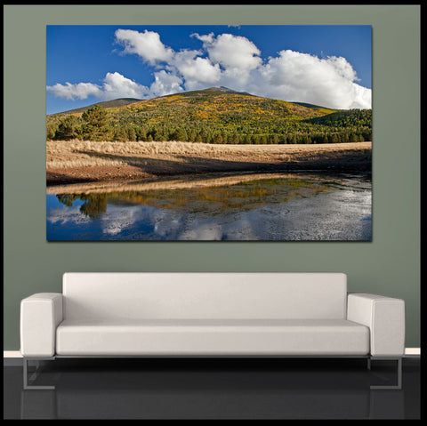 """Fall Mountain Reflection"" Arizona Fine Art Gallery Wrapped Canvas Print"