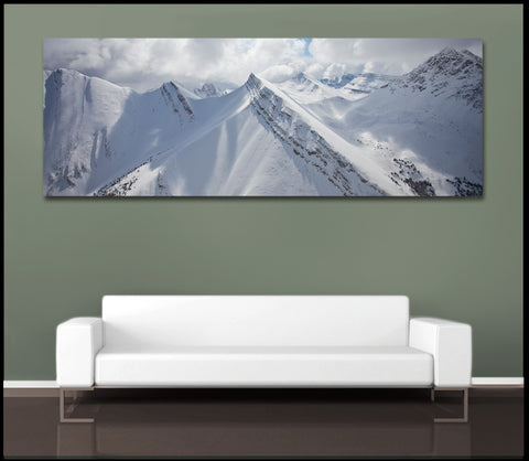 """White Mountain Skies"" Fine Art Gallery Wrapped Canvas Print"