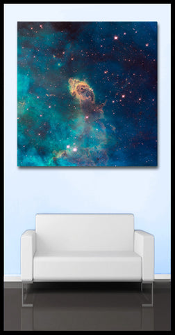 """Jet in Carina"" Celestial Square Fine Art Gallery Wrapped Canvas Print"