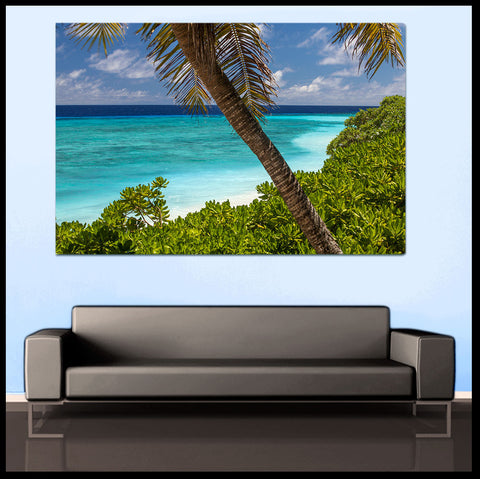 """Lagoon of Heaven"" Nanuku Island Fiji Fine Art Gallery Wrapped Canvas Print"