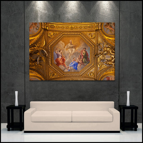 """Louvre Gold"" Paris Fine Art Gallery Wrapped Canvas Print"