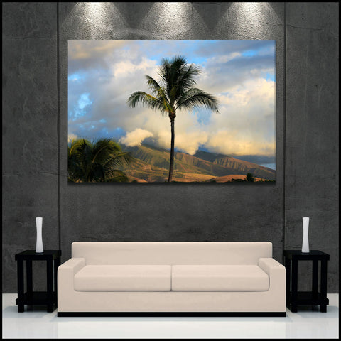 """Magical Maui Sunset"" Hawaii Fine Art Gallery Wrapped Canvas Print"