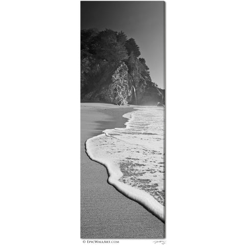 """McWay Cove"" Big Sur Vertical Panoramic Fine Art Gallery Wrapped Canvas Print"