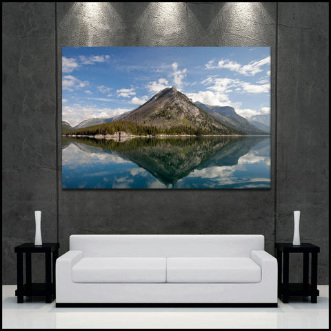 """Mountain Reflections"" Banff Fine Art Gallery Wrapped Canvas Print"