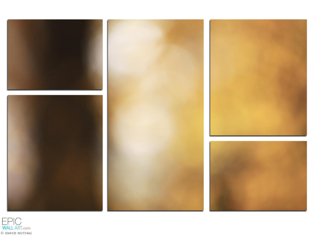 Autumn Abstract  5 Piece Fine Art Gallery Wrapped Canvas Wall Display - EpicWallArt.com  sc 1 st  Epic Wall Art & Autumn Abstract