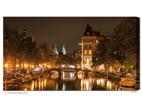 """Amsterdam Reflections"" Fine Art Custom-Made Canvas Print"