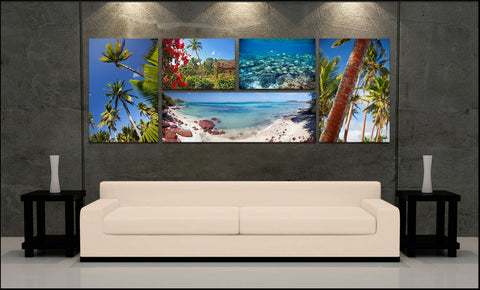 """Palm Paradise"" Fiji Islands 5-piece Epic Wall Display"