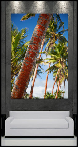 """Palms of Paradise"" Tropical Fiji Fine Art Gallery Wrapped Canvas Print"