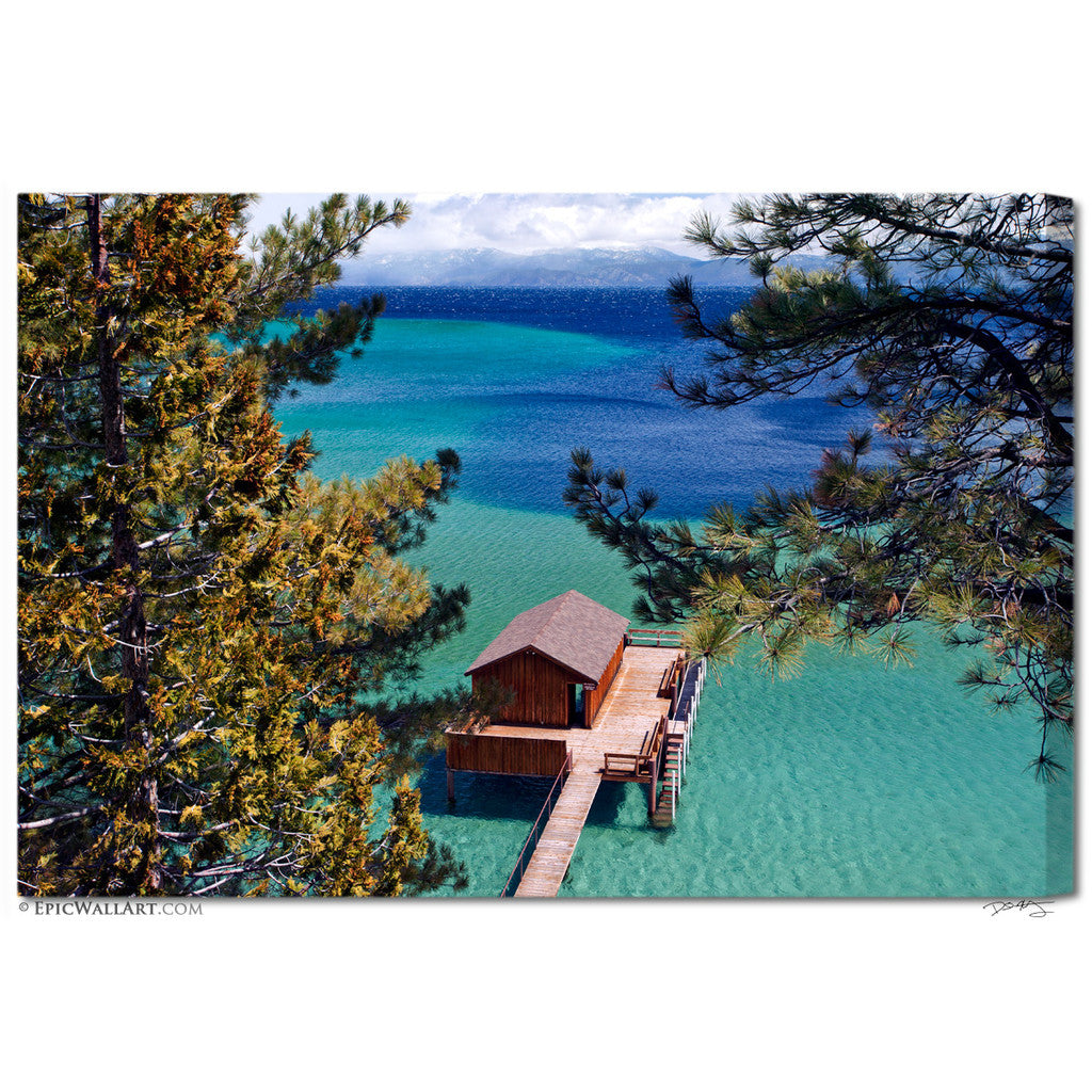 "Lake Tahoe Homes: ""Paradise Cabin"" Lake Tahoe Fine Art Gallery Wrapped"
