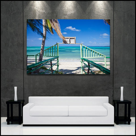"""Pathway to Paradise"" Fiji Islands Fine Art Gallery Wrapped Canvas Print"