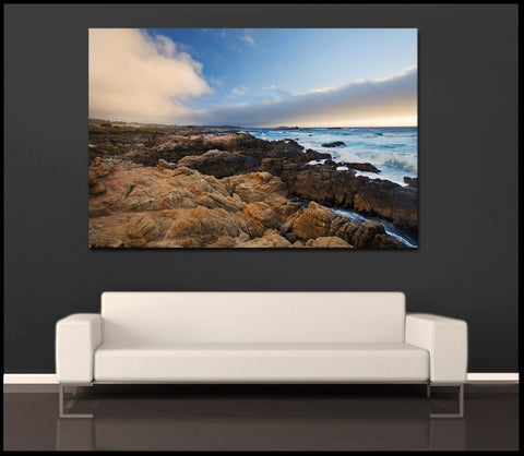"""Pebble Beach Sunset"" Carmel Fine Art Gallery Wrapped Canvas Print"