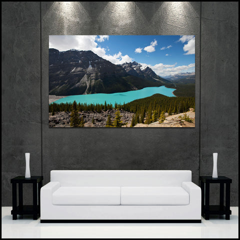 """Peyto Lake"" Canadian Rockies Fine Art Gallery Wrapped Canvas Print"