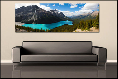 """Peyto Lake Panorama"" Banff Fine Art Gallery Wrapped Canvas Print"