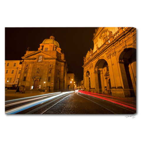 """Prague Lights"" Europe Fine Art Gallery Wrapped Canvas Print"