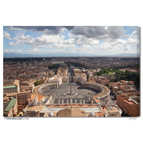 """The Top of Rome"" Italy Fine Art Gallery Wrapped Canvas Print"