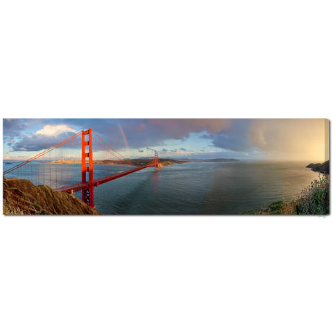 """San Francisco Sunset Rainbow"" Fine Art Gallery Wrapped Canvas Print"