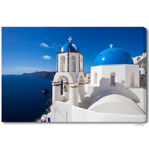 """Santorini Skies"" Greek Islands Fine Art Gallery Wrapped Canvas Print"
