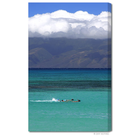 """Snorkeling in Maui"" Hawaii Fine Art Gallery Wrapped Canvas Print"