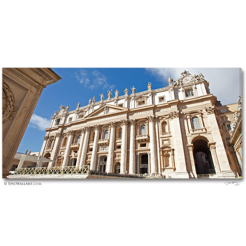 """St Peter's Basilica"" Vatican City Fine Art Gallery Wrapped Canvas Print"