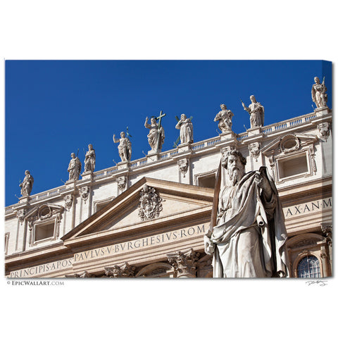 """St. Peter's Statues"" Vatican City Fine Art Gallery Wrapped Canvas Print"