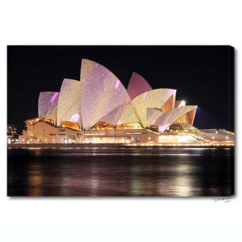 """Sydney Opera House"" Australia Fine Art Gallery Wrapped Canvas Print"