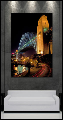 """Sydney Harbor Bridge"" Australia Fine Art Gallery Wrapped Canvas Print"