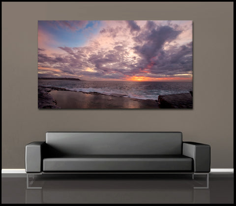 """Stunning Sydney Sunrise"" Fine Art Gallery Wrapped Canvas Print"