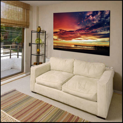 """Heaven Descending"" San Diego Pacific Beach Fine Art Gallery Wrapped Canvas Print"
