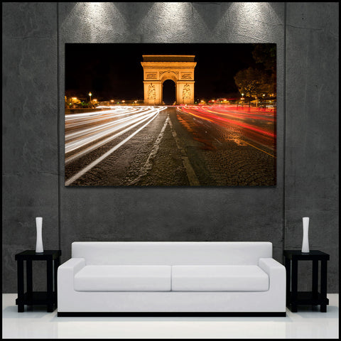 """The Arc"" Paris Fine Art Gallery Wrapped Canvas Print"