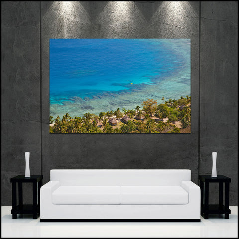 """Tropical Destination"" Fiji Islands Fine Art Gallery Wrapped Canvas Print"