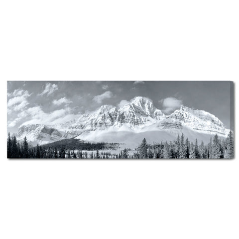 """White Mountain Morning"" Black & White Art Gallery Wrapped Canvas Print"