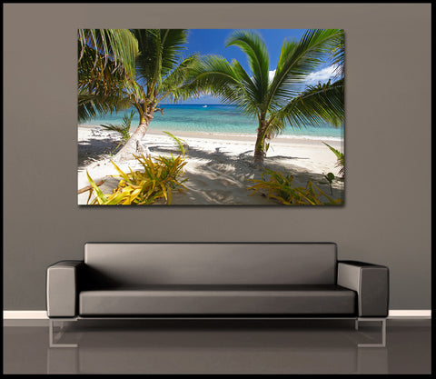 """Tropical Pathway"" Fine Art Gallery Wrapped Canvas Print"