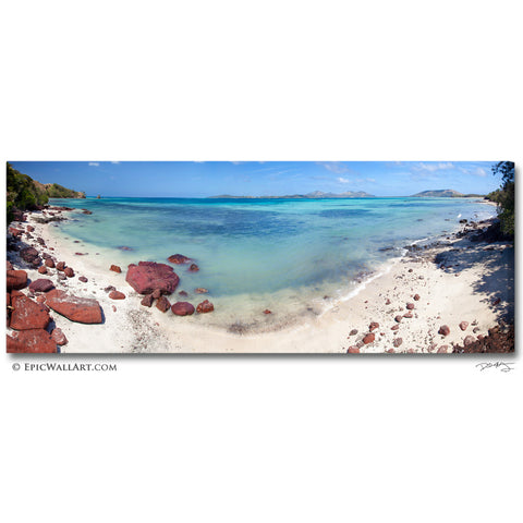 """Tropical Waters"" Fiji Islands Panoramic Fine Art Gallery Wrapped Canvas Print"