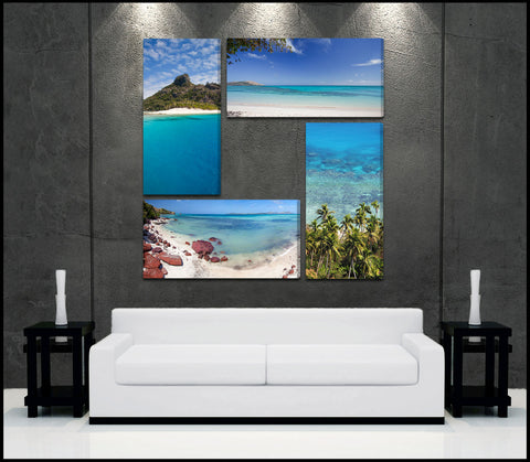 """Tropical Illusions"" 4-Piece Epic Fine Art Canvas Wall Display"