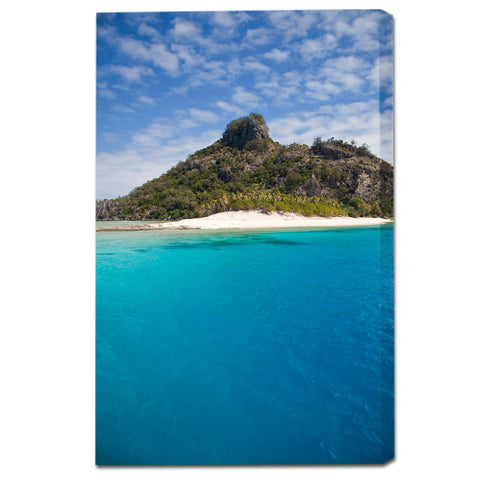 """Castaway Island"" Monuriki Fine Art Gallery Wrapped Canvas Print"