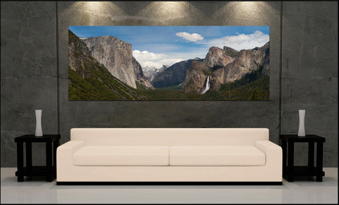 """Tunnel View Panorama"" Yosemite Fine Art Gallery Wrapped Canvas Print"