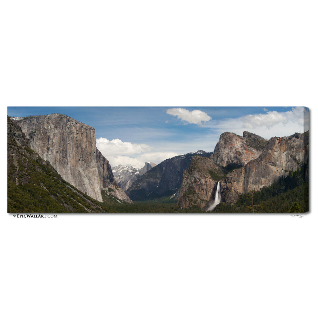 Tunnel View Panorama Yosemite Fine Art Gallery Wrapped Canvas Print