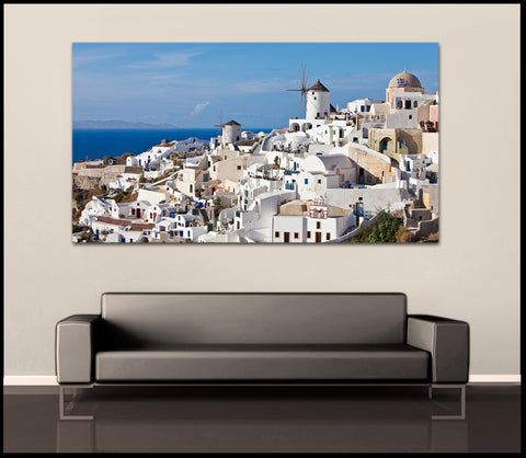 """The White Village"" Greek Islands Fine Art Gallery Wrapped Canvas Print"